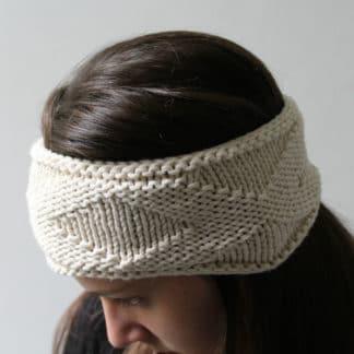 headband à tricoter sans couture