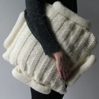 modèle de coussin déhoussable à tricoter