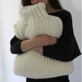 savoir tricoter un coussin