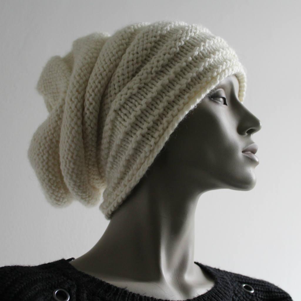 a500ab97b2b0e Tricoter un bonnet slouchy homme femme ado - Knit'n'Roll