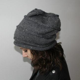 patron de tricot pour un bonnet slouchy