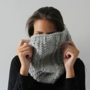 snood knit stitch in the round seamless soft knotions