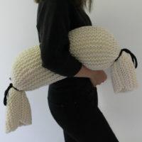 comment tricoter un coussin polochon déoussable au point mousse