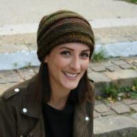 bonnet chiné en laine adriafil