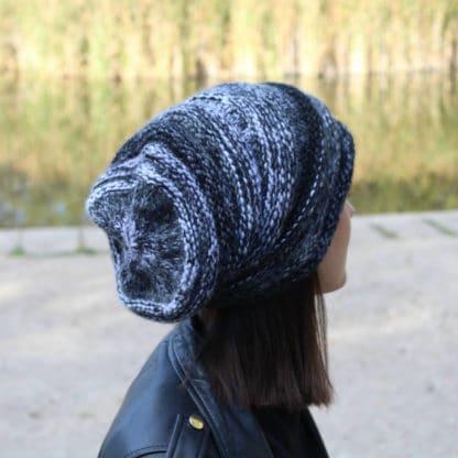 patron de tricot bonnet chiné