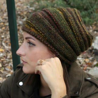 tutoriel pour tricoter un bonnet slouchy au point de godrons