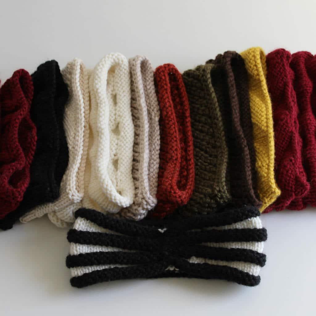 modeles tricot headbands