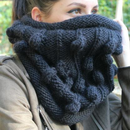 tricoter un snood avec une aiguille circulaire 8