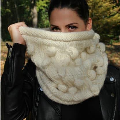 snood grosse laine sans couture diy