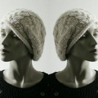 comment tricoter un bonnet béret avec des torsades et une aiguille circulaire
