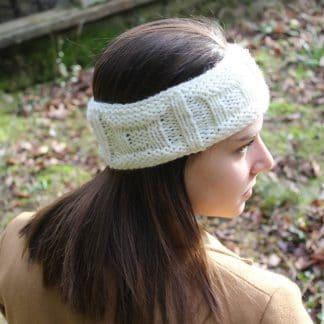 diy tricoter un bandeau headband avec des motifs carrés