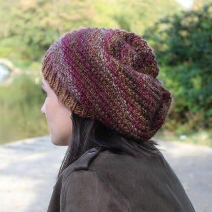 bonnet slouchy à tricoter avec la laine azteca