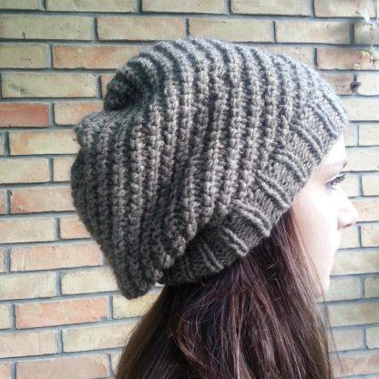 patron gratuit à télécharger pour tricoter un bonnet pour adolescent
