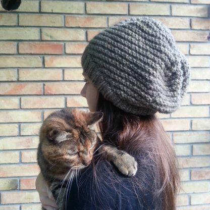 patron de tricot gratuit pour tricoter un bonnet slouchy pour adolescent
