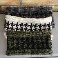 comment tricoter des bandeaux en jacquard pied de poule