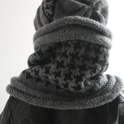 diy comment tricoter un snood col facilement avec une aiguille circulaire
