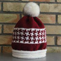 patron de tricot pour tricoter un bonnet rouge et blanc pour noël