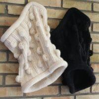 comment tricoter un snood avec des pompons au point de nopes