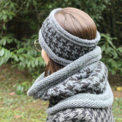 comment tricoter un ensemble headband et snood