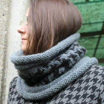 comment tricoter un #snood avec une aiguille circulaire