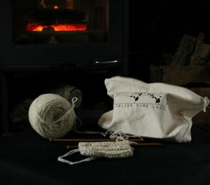 tricoter un échantillon en pure laine