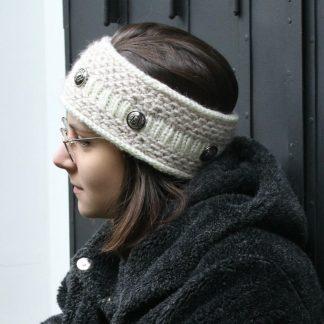 patron de tricot pour un bandeau headband avec une aiguille circulaire