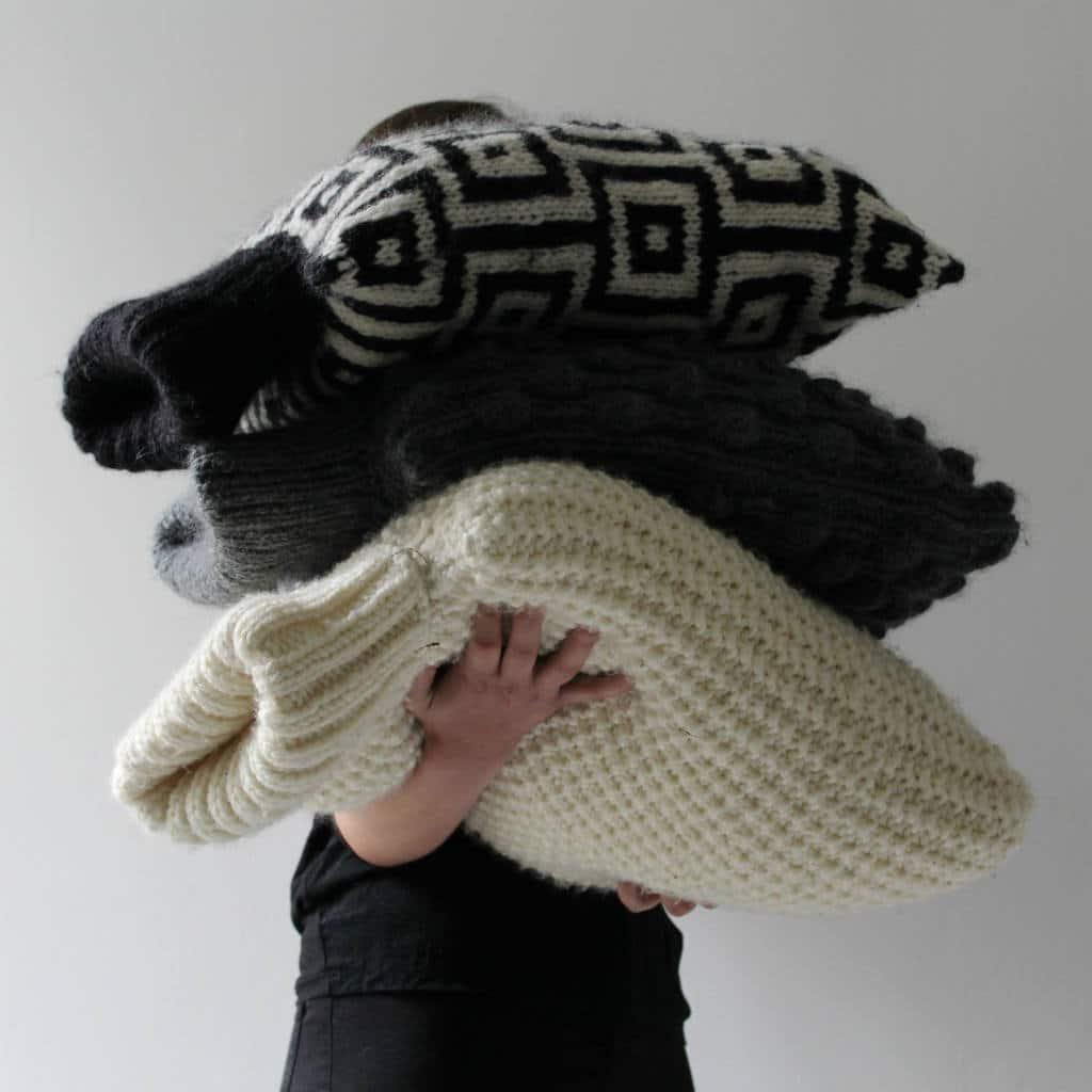 modèles tricot coussins
