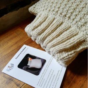 kit tricot coussin le confident laine 3 brins atelier pure laine
